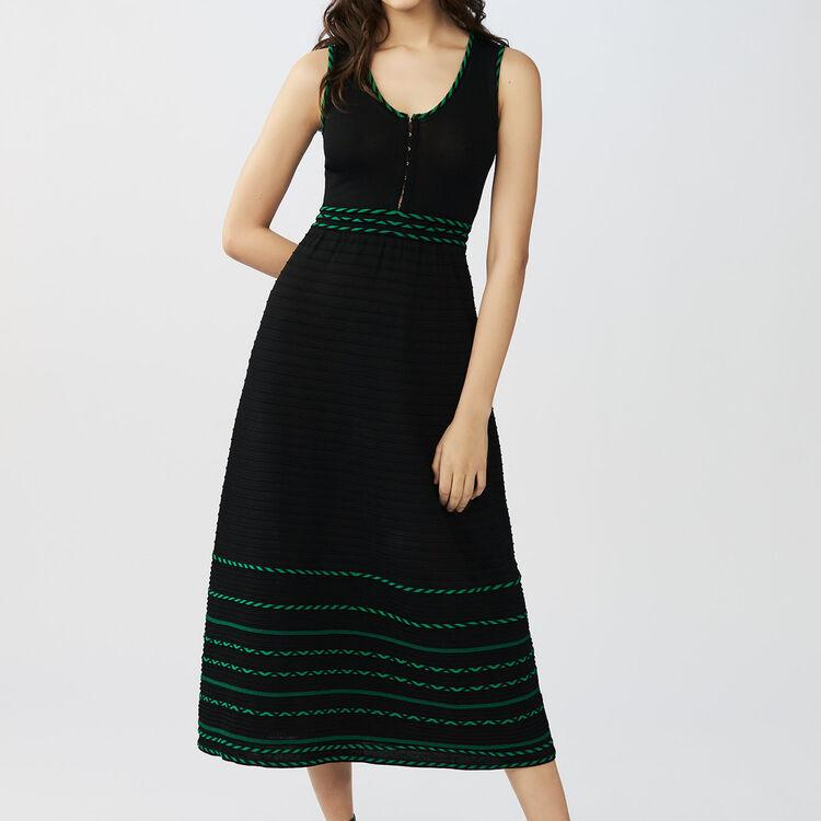 Vestito lungo senza maniche in maglia : Vestiti colore Nero