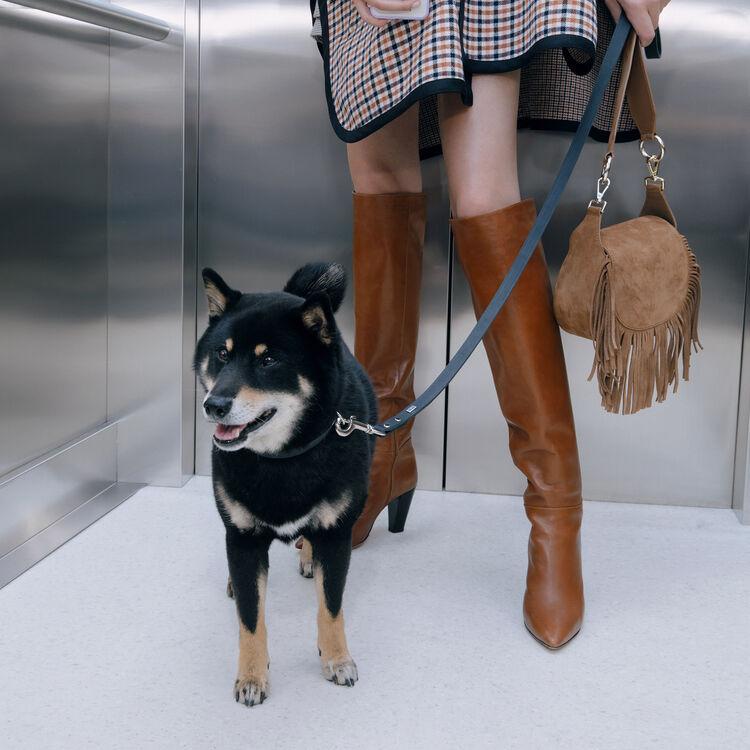 Heeled smooth leather boots : Stivali e Stivaletti colore Cognac