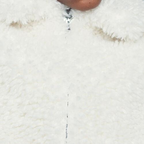 Giubbotto corto in finta pelliccia : Giubbotti colore Bianco