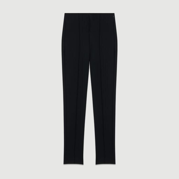 Leggings sportivi in materiale tecnico : Prêt-à-porter colore Nero