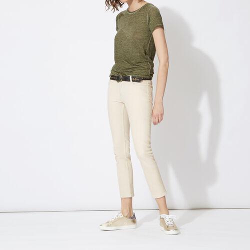 Jeans a pinocchietto in cotone stretch : Pantaloni & jeans colore Gesso