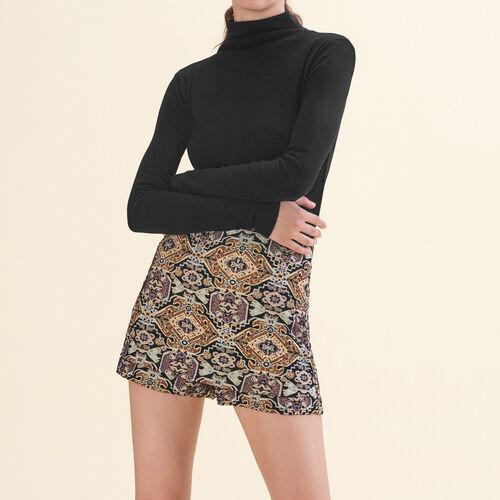 Short corti in jacquard : Gonne e shorts colore Jacquard