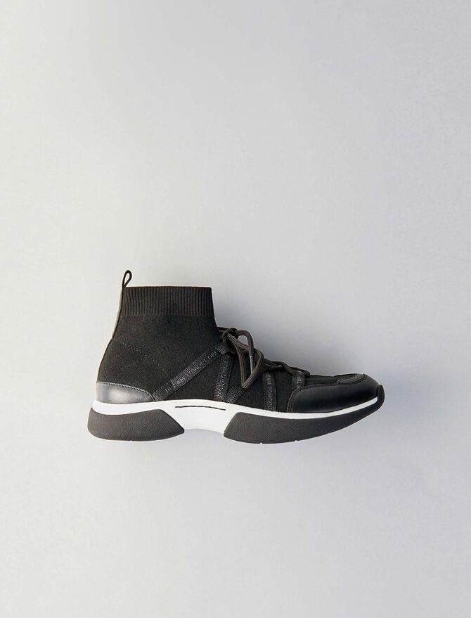 Sneakers alte in maglia stretch - Sneakers - MAJE