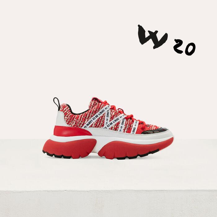 Sneakers W20 urbane in tweed : Sneakers colore Rosso