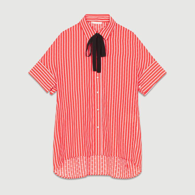 Camicia a righe con cravatta : Camicie colore A Righe