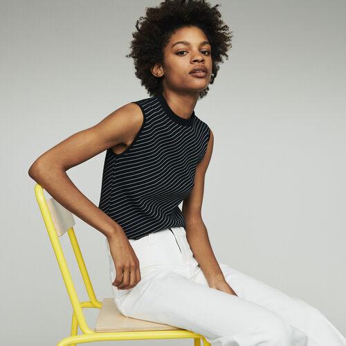 Pull senza maniche a righe : Pullover e cardigan colore A Righe