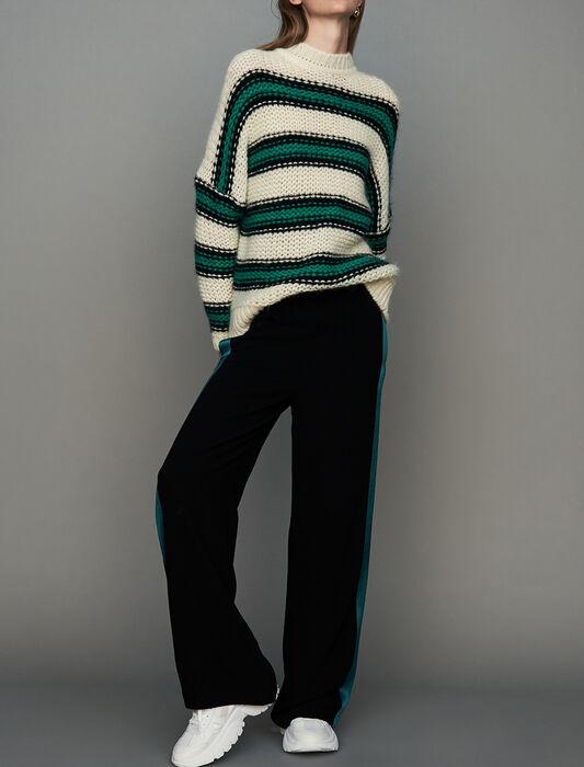 Pull oversize in maglia tricolore : Nuova Collezione colore Verde