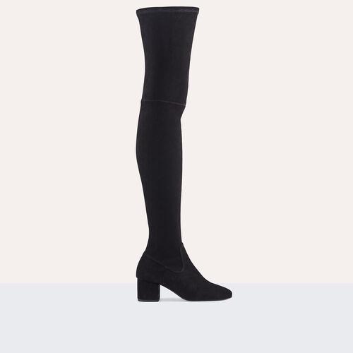 Stivali cuissard bassi scamosciati : Accessori colore Nero