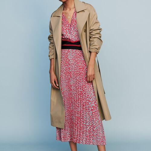 Trench basico in tela : Prêt-à-porter colore Beige