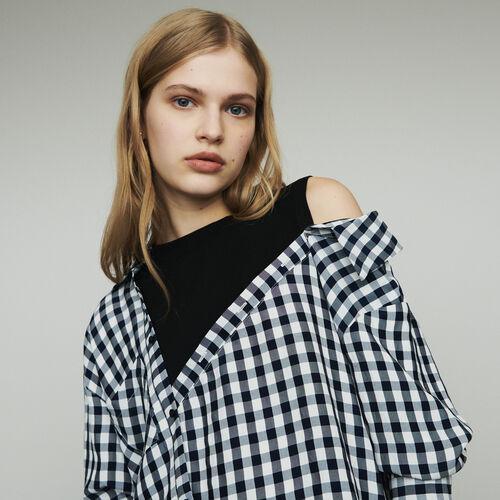 Camicia trompe-l'œil stampata vichy : Tops colore CARREAUX