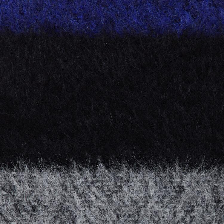 Echarpe en laine color block : Scialli & Poncho colore Violetto