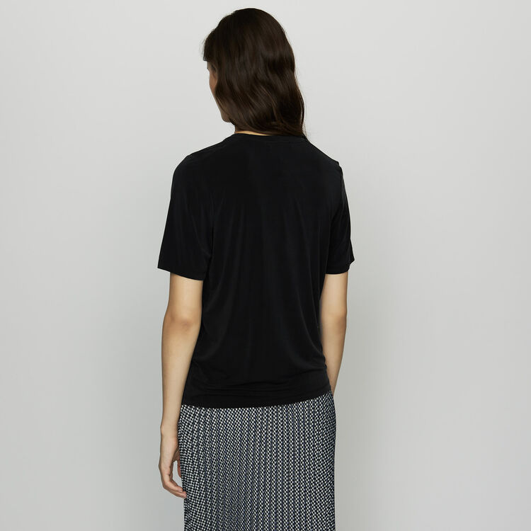 T-shirt in cupro : T-Shirts colore Nero