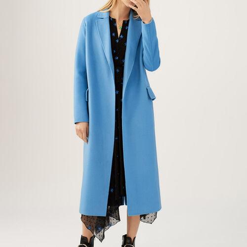 Cappotto lungo double face : Cappotti colore Blu Marino
