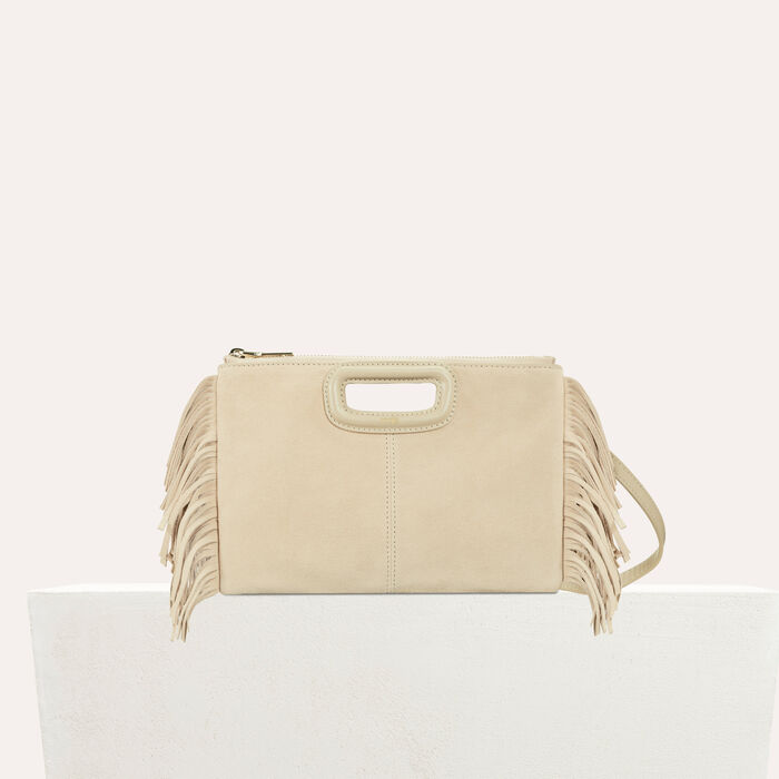 Pochette M Duo in suede : M Duo colore Beige