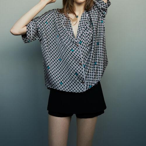 Camicia in satin stampato : Camicie colore IMPRIME