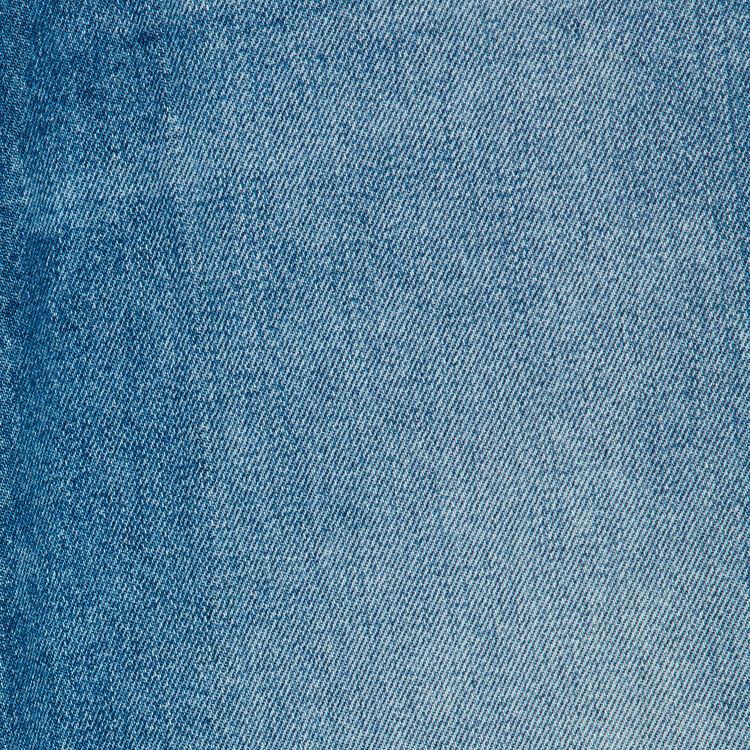 Jeans larghi con dettagli sdruciti : Jeans colore Blu