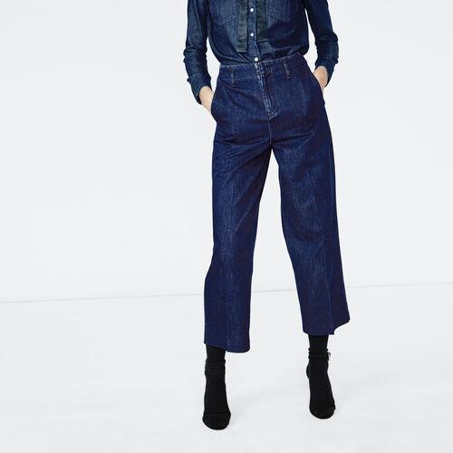 Jeans largo e corto taglio dritto : Pantaloni & jeans colore Denim