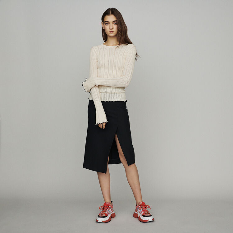 Pull in maglia : Pullover e cardigan colore Bianco Sporco