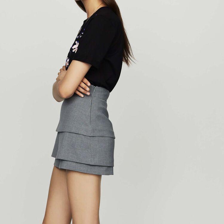 Illusion skirt : Gonne e shorts colore Grigio