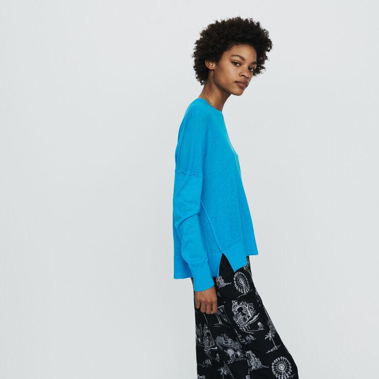 Pull oversize in cashmere : Maglieria colore Blu