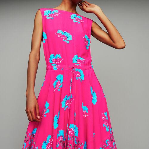 Vestito lungo stampato senza maniche : Prêt-à-porter colore IMPRIME