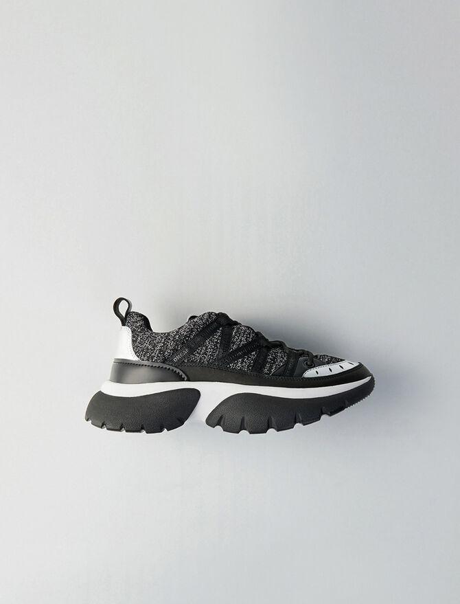 Sneakers W20 urbane in pelle e lurex - Sneakers - MAJE
