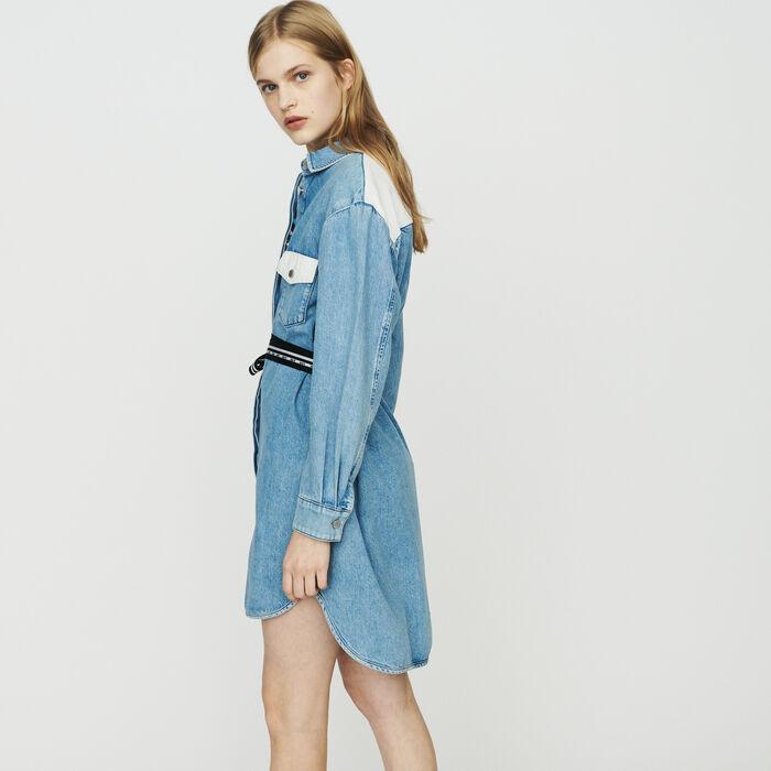 Scamiciato in jeans : Vestiti colore Denim