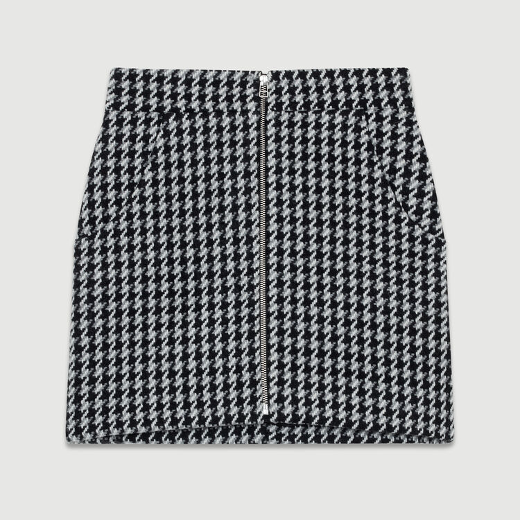 Gonna corta pied-de-poule : Gonne e shorts colore Jacquard
