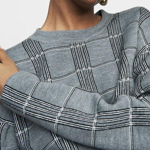 Pull oversize in maglia jacquard : Prêt-à-porter colore CARREAUX