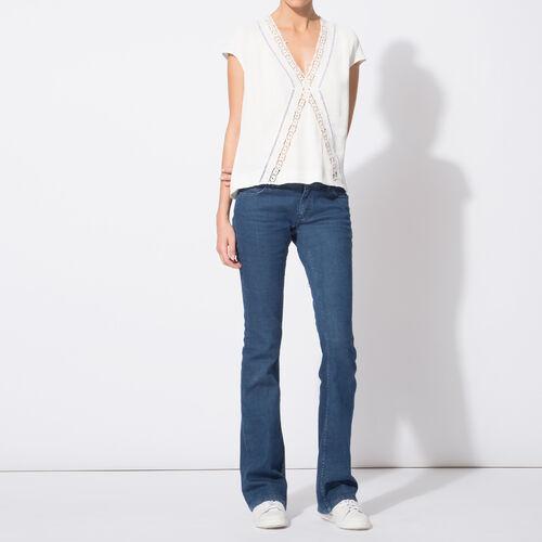 Jeans grezzi svasati in cotone stretch : Pantaloni & jeans colore Denim