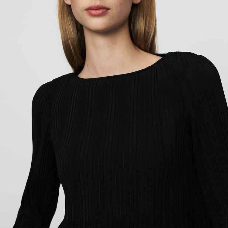 Top con plissettatura : Prêt-à-porter colore Nero
