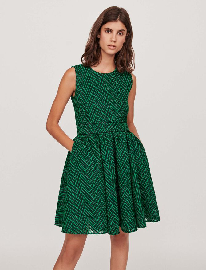 Basket-stitched knit dress - Midseason-Sales_IE_Bestsellers - MAJE