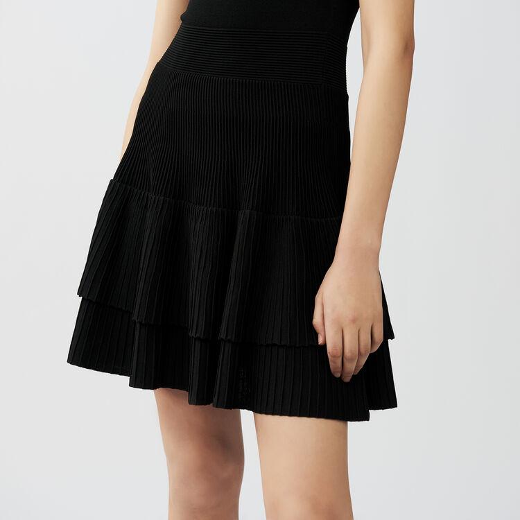 Vestito in maglia con volant : Vestiti colore Nero