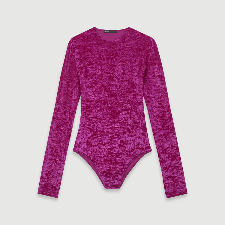 Body in velluto : T-Shirts colore Rosa