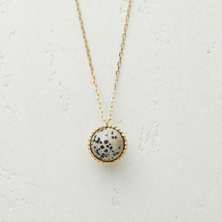 Collana con sfera in : Gioelli colore Bianco Sporco