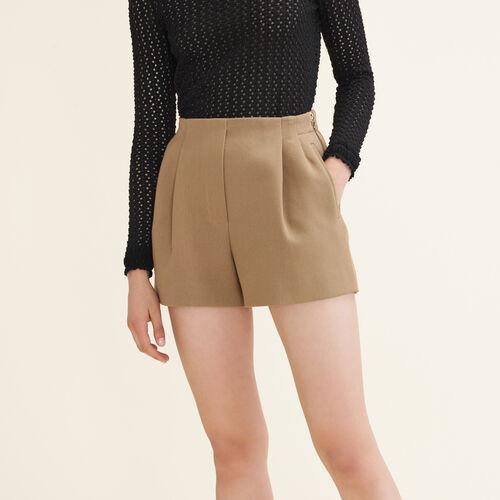 Short in misto cotone : Gonne e shorts colore Cammello