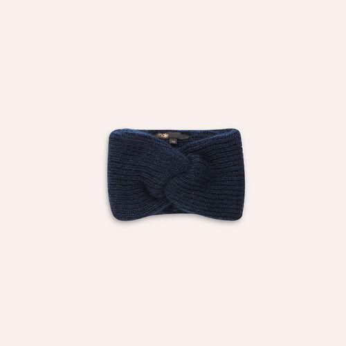 Maglia misto lana : Accessori colore Blu Marino