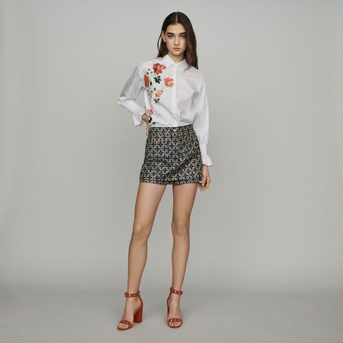 Short trompe-l'œil in jacquard : Gonne e shorts colore Jacquard