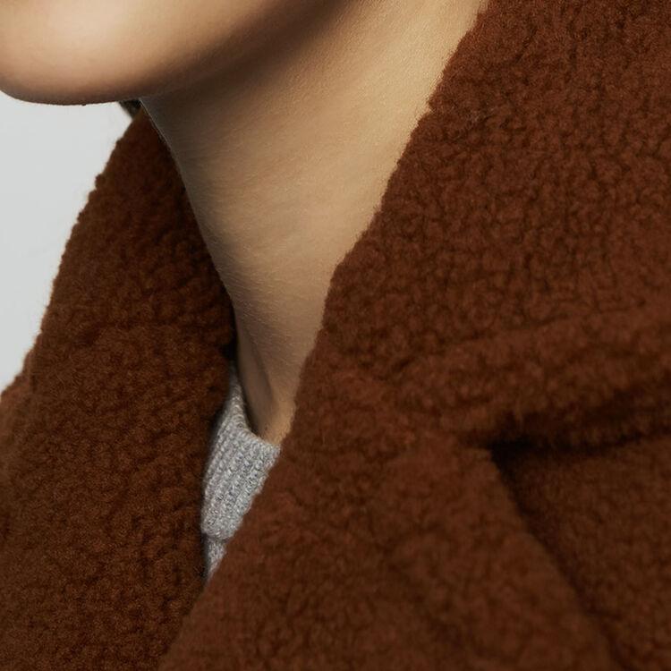 Cappotto lungo in finta pelliccia : Cappotti colore Marrone