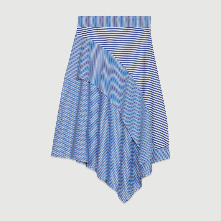 Gonna in cotone a righe : Gonne e shorts colore A Righe
