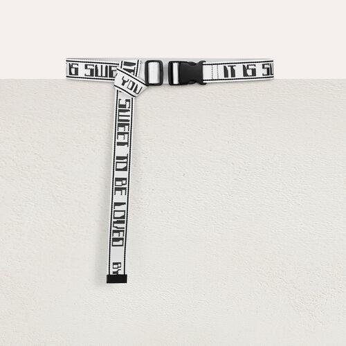 Cintura a fibbia piatta : Cinture colore Bianco