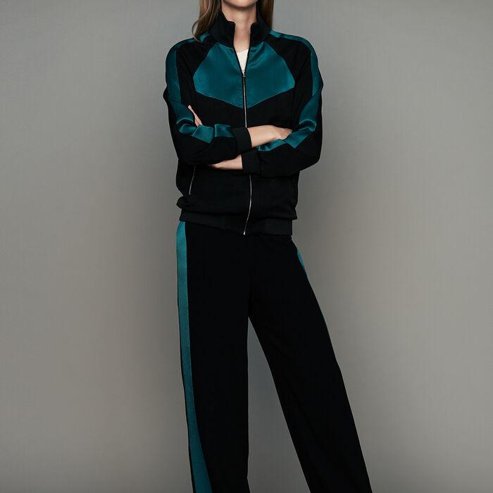 Giacca bicolore stile sportivo : Giacche colore Nero