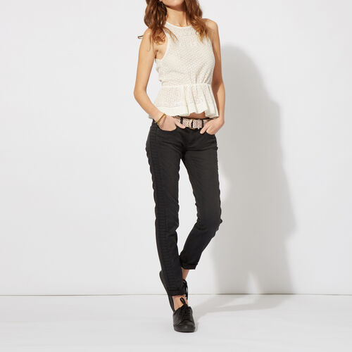 Jeans slim in cotone stretch : Pantaloni & jeans colore Nero