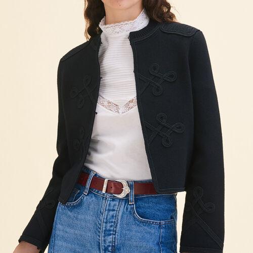 Cardigan con passamanerie : Pullover e cardigan colore Nero