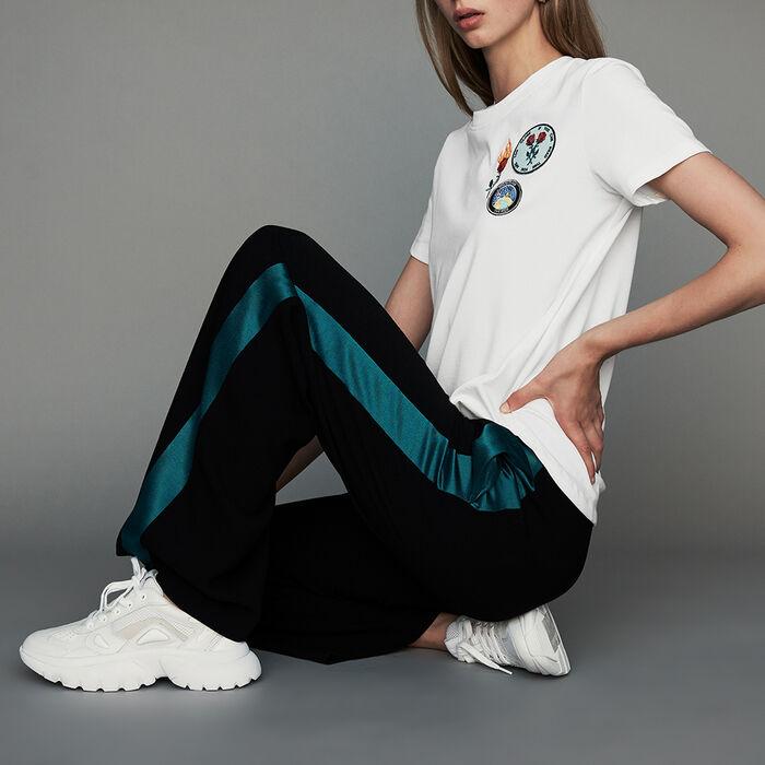 Pantalone largo bicolore : Nuova Collezione colore Nero