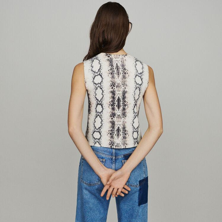 Pull corto senza maniche pitonato : Pullover e cardigan colore IMPRIME