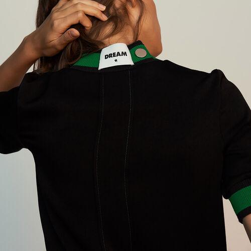 Top effetto sportivo : Tops colore Nero