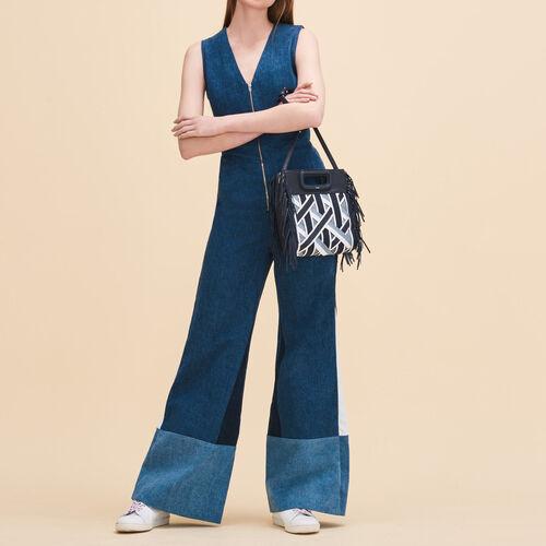 Tuta pantalone senza maniche : Pantaloni & jeans colore Denim