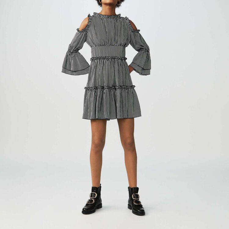 Vestito a righe con spalle nude : Vestiti colore A Righe