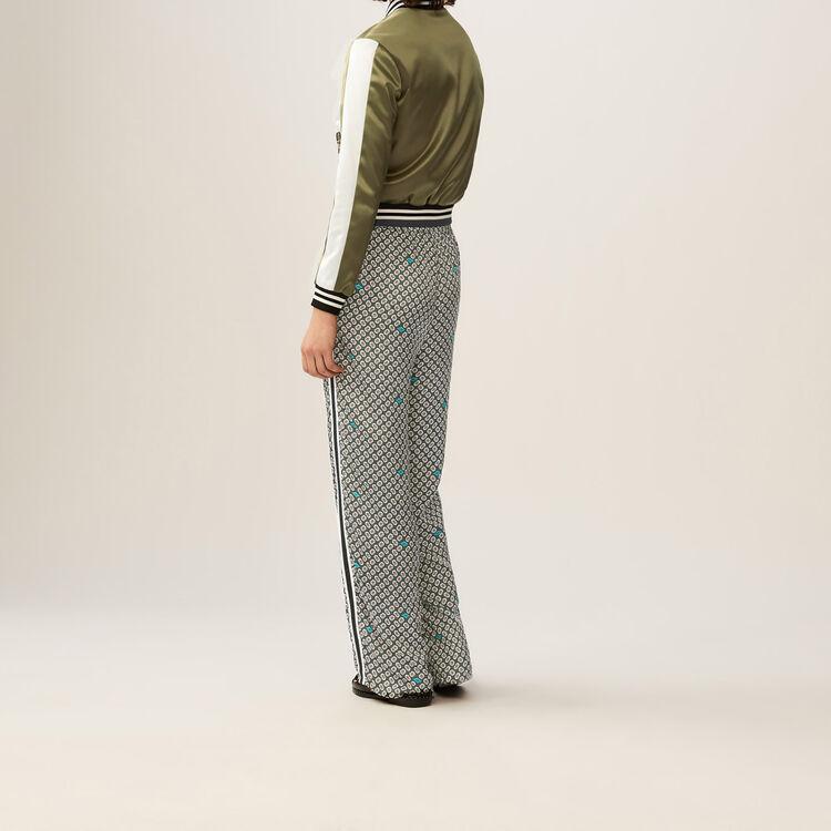Pantaloni fluidi stampati : Pantaloni colore IMPRIME